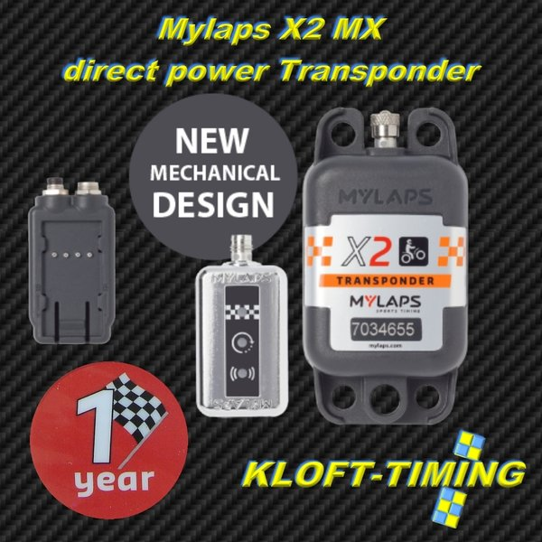 MYLAPS X2 MX direct Power Transponder 1 Jahr