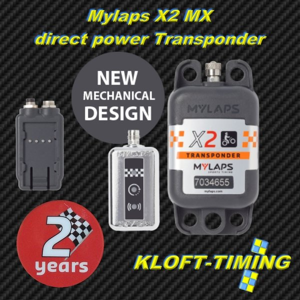 MYLAPS X2 MX direct Power Transponder 2 Jahre