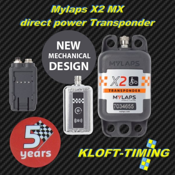 MYLAPS X2 MX direct Power Transponder 5 Jahre