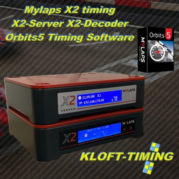 X2 Server und Decoder inkl. Timing Software u. Kontaktschleife