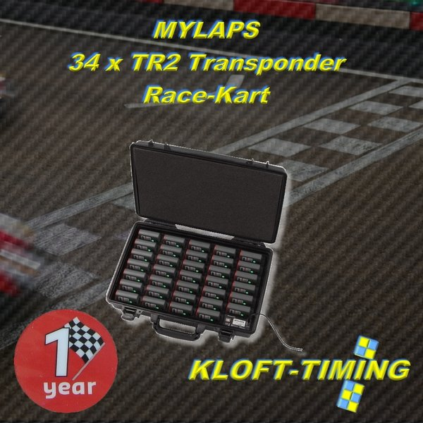TR2 Charger Case incl. 34 Transponder units - Kart 1 year