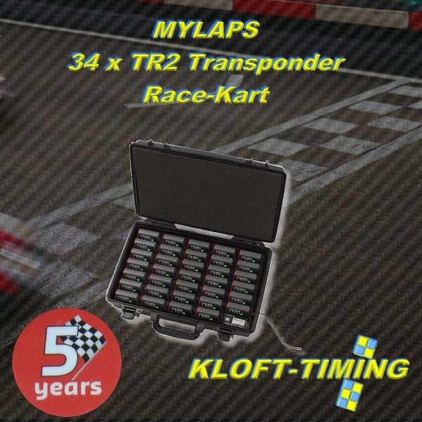 TR2 Charger Case incl. 34 Transponder units - Kart 5 years