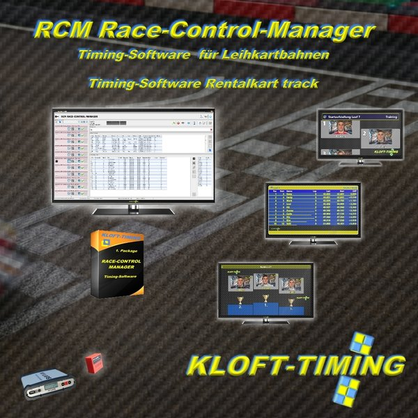 RACE-CONTROL-MANAGER Software für Leihkartbahnen Rental Kart Timing Software