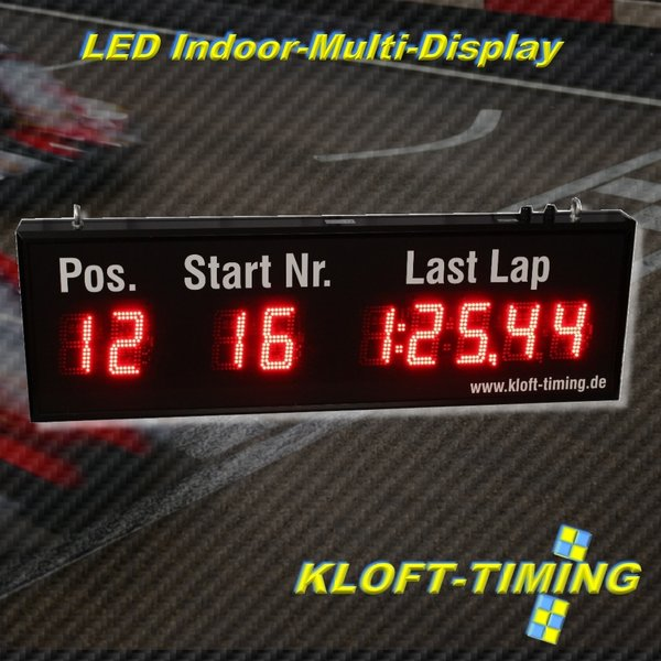 Indoor LED-MULTIDISPLAY 110mm Schrifthöhe