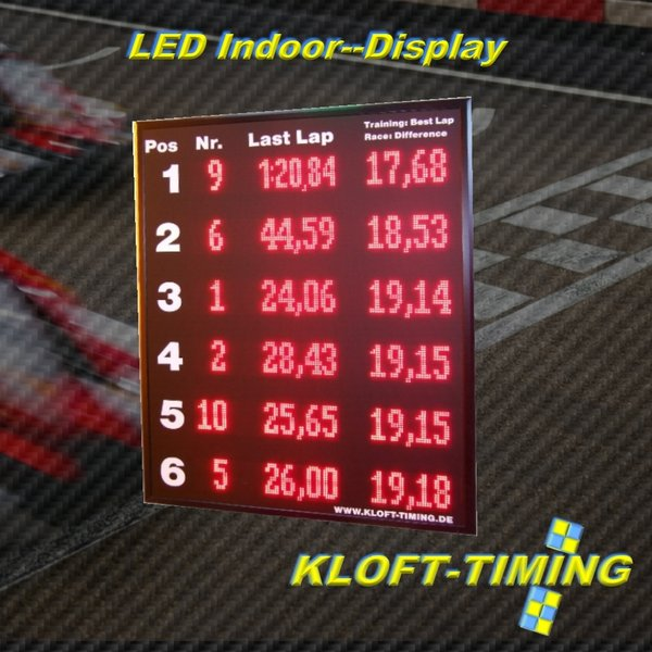 LED-Indoor Display 6-zeilig